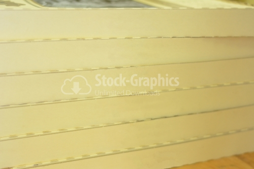Perforated cardboard sheet in strips