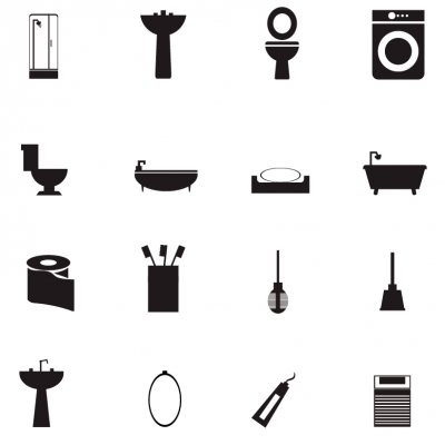 Bathroom Icons - Illustration