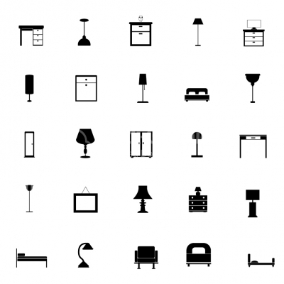 Bedroom Furniture Icons - Illustration