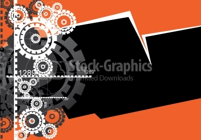 Gear vector background