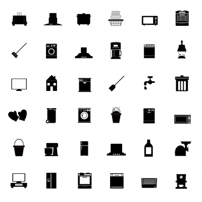 Interior icons set - Illustration