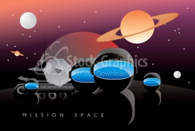 Space mission vector background